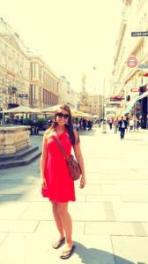 Enjoying a day in Vienna, Austria.