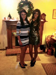 Happy NYE from the Nicholas sisters! Try and ignore our glowing eyes...